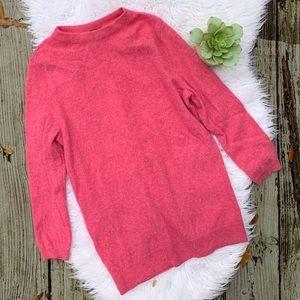 Talbots 100% Pure Cashmere Salmon Pink Sweater